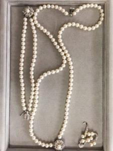 お客様よりお預かりしたアコヤ真珠のジュエリーセット