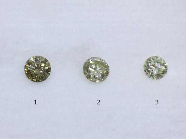 グリーンダイヤモンドを選んで頂く