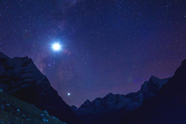 見上げる星空はどんなにきれいでしょう