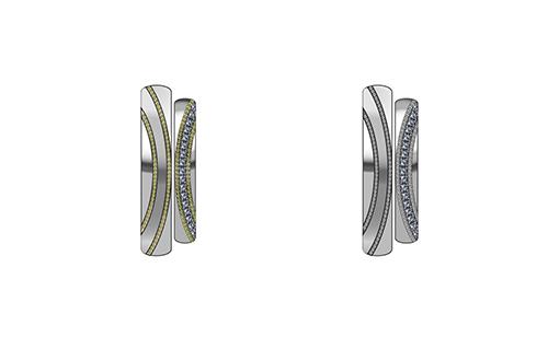 左:プラチナとイエローゴールド、右:プラチナのみ